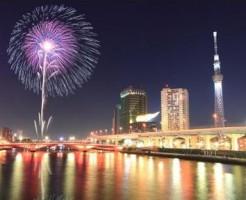 隅田川花火大会が見えるホテル